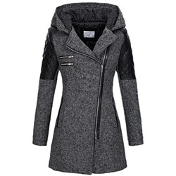 Slim Zipper Long Sleeve Long Women's Jacket