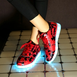 Shoespie Lace-Up Platform LED Light Sneaker