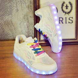 Shoespie Hollow Platform LED Light Sneaker