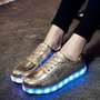 Shoespie Casual Lace-Up Platform LED Light Sneaker