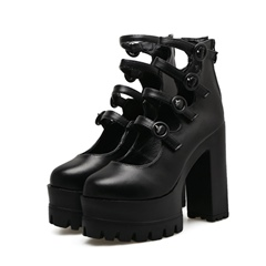 Shoespie Casual Chunky Heel Platform Ankle Boot
