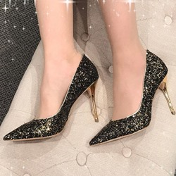 Shoespie Casual Slip-On Pointed Toe Stiletto Heel