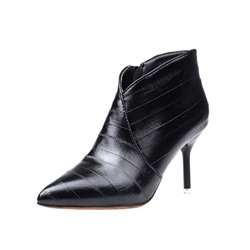 Shoespie Casual Pointed Toe Side Zipper Stiletto Heel Ankle Boot