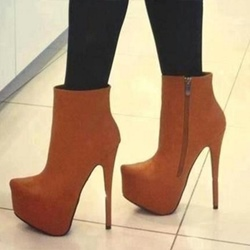 Shoespie Side Zipper Platform Stiletto Heel Ankle Boot