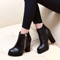 Black Platform Fashion Boots