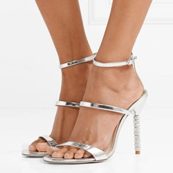 Shoespie Diamond Line-Style Buckle Banquet Dress Sandal