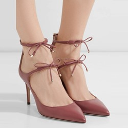 Shoespie Pointed Toe Bow Zipper Stiletto Heel