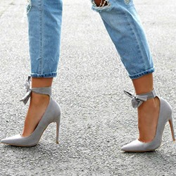 Shoespie Pointed Toe Stiletto Heel Lace-Up Stiletto Heel