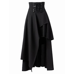 Halloween Costume Asymmetrical Ankle-Length High Waist Women's Skirt