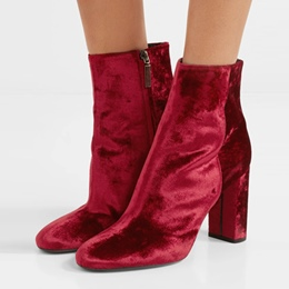 Shoespie Side Zipper Chunky Heel Ankle Boot