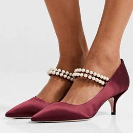 ShoespieBeads Pointed Toe Stiletto Heel