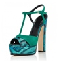 Shoespie Strappy T-Shaped Buckle Chunky Heel Platform Sandal