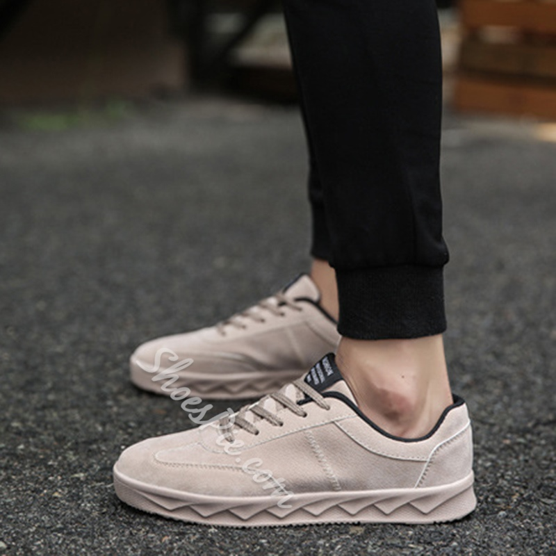 Sheoespie Round Toe Lace-Up Low-Cut Upper Sneaker
