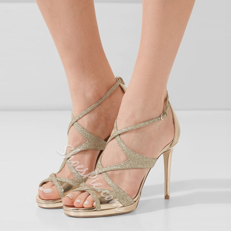 Open Toe Stiletto Heel Heel Sandal