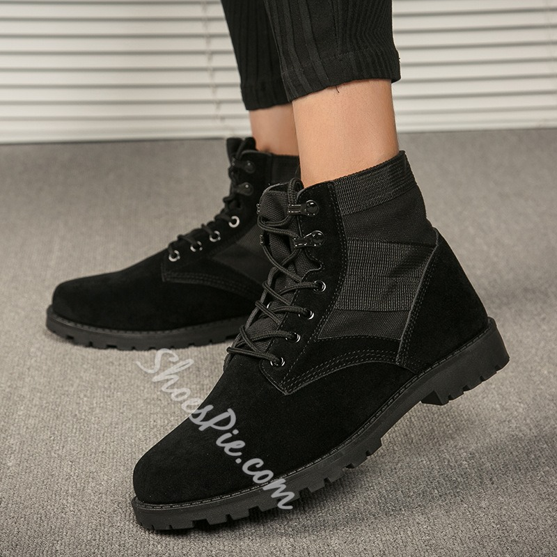 Shoespie Casual Lace-Up Martin Boots