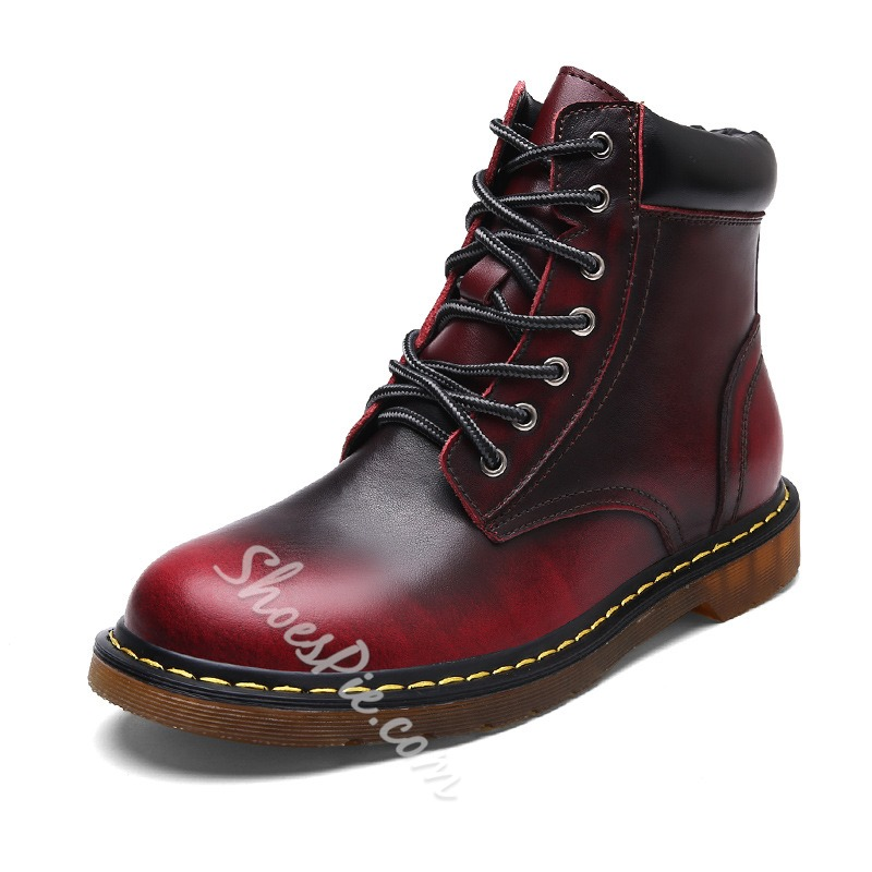 Shoespie Casual Lace-Up Front Men Martin Boot