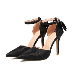 Shoespie Pointed Toe Bowknot Line-Style Buckle Stiletto Heel