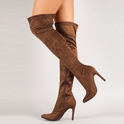 Shoespie Stiletto Heel Side Zipper Knee High Boot