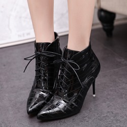 Shoespeie Stiletto Heel Cross Strap Women's Boots
