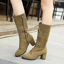 Shoespie Cross Strap Low Heel Women's Boots