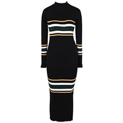 Patchwork Pullover Stripe Women's Bodycon Dress