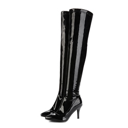 Shoespie Casual Stiletto Heel Side Zipper Knee High Boot