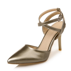 Shoespie Casual Ankle Strap Buckle Stiletto Heel
