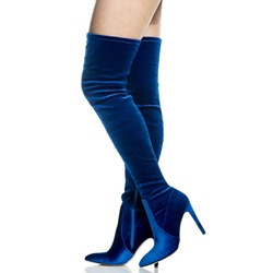 Shoespie Pointed Toe Stiletto Heel Side Zipper Knee High Boots