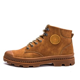 ShoespieCasual Lace-Up Front Ankle Men's Boots
