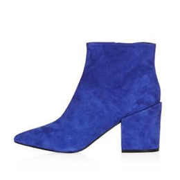 Shoespie Casual Pointed Toe Chunky Heel Side Zipper Ankle Boot