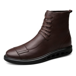 Shoespie Casual Lace-Up Front Men Ankle Boot