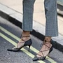 Shoespie Pointed Toe Low-Cut Upper Lace-Up Stiletto Heel