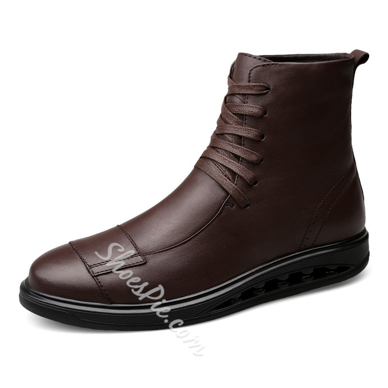 e914a1bec09 Shoespie Casual Lace-Up Front Men Ankle Boot
