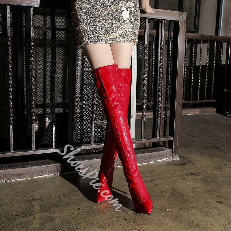 Shoespie Stiletto High Heel Knee High Boots