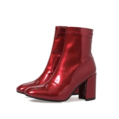 Shoespie Casual Chunky Heel Side Zipper Ankle Boot