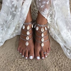 Shoespie Beautiful Alloy Shell Anklets