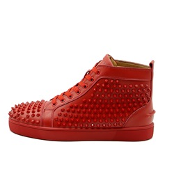 Shoespie Color Block Rivet Lace-Up Sneaker