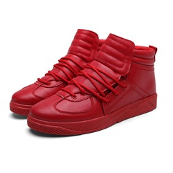Shoespie Casual Mid-Cut Upper Lace-Up Sneaker