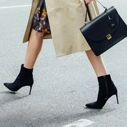 ShoespieCasual Stiletto Heel Side Zipper Pointed Toe Ankle Boot