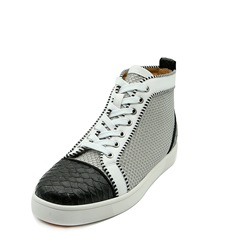Shoespie Patchwork Color Block Lace-Up Sneaker