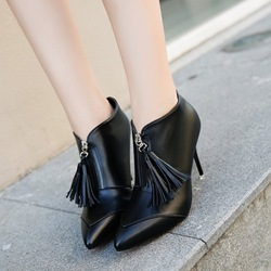 Stiletto Heel Fringe Fashion Boots