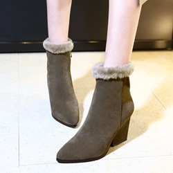 Casual Fashion Chunky Heel Boots