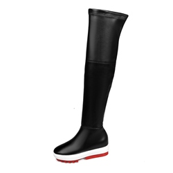 Shoespie Platform Side Zipper Shaped Heel Knee High Boot