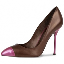 Shoespie Casual Slip-On Color Block Pointed Toe Stiletto Heel