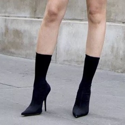 Shoespie Casual Stiletto Heel Pointed Toe Slip-On Ankle Boot