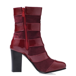 Shoespie Buckle Side Zipper Chunky Heel Ankle Boot