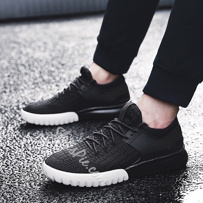 Shoespie Lace-Up Casual Round Toe Sneaker