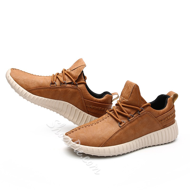 Shoespie Casual Lace-Up Round Toe Thread Sneaker