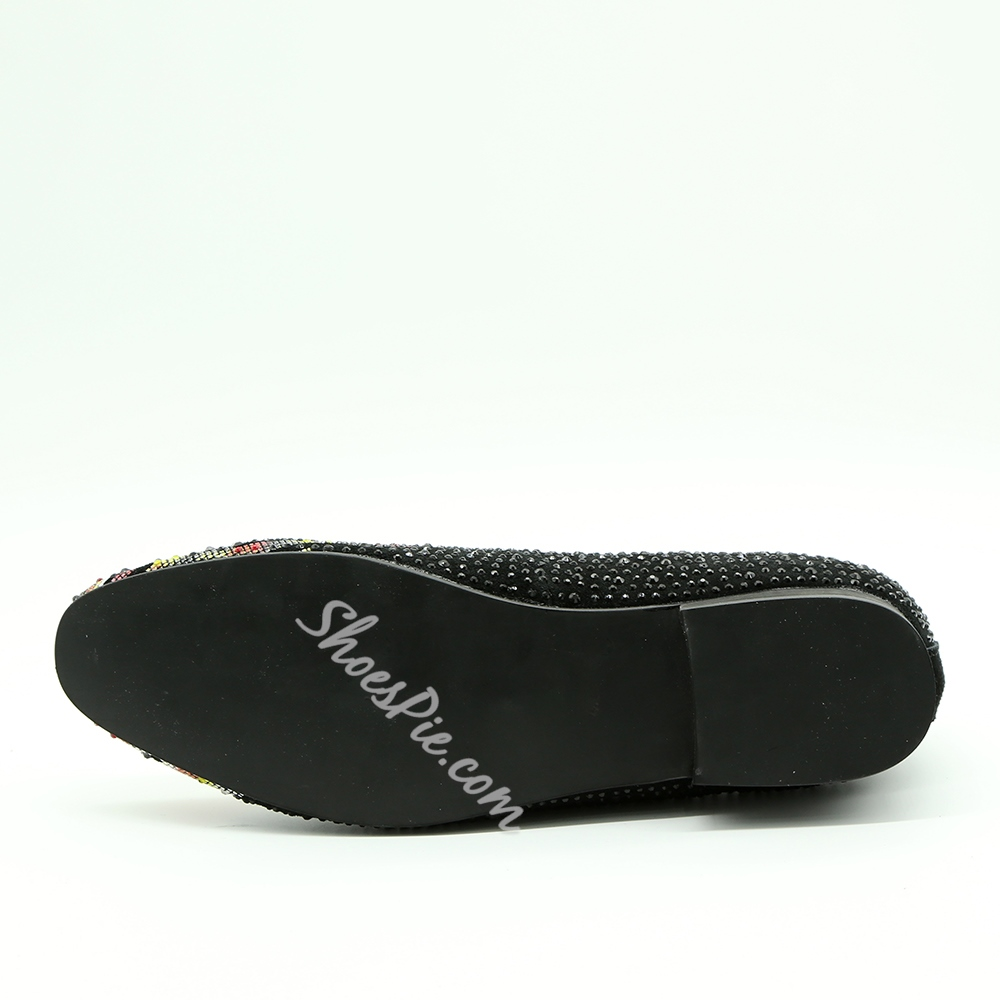 Shoespie Casual Color Block Rhinestone Slip-On Men's Loafer