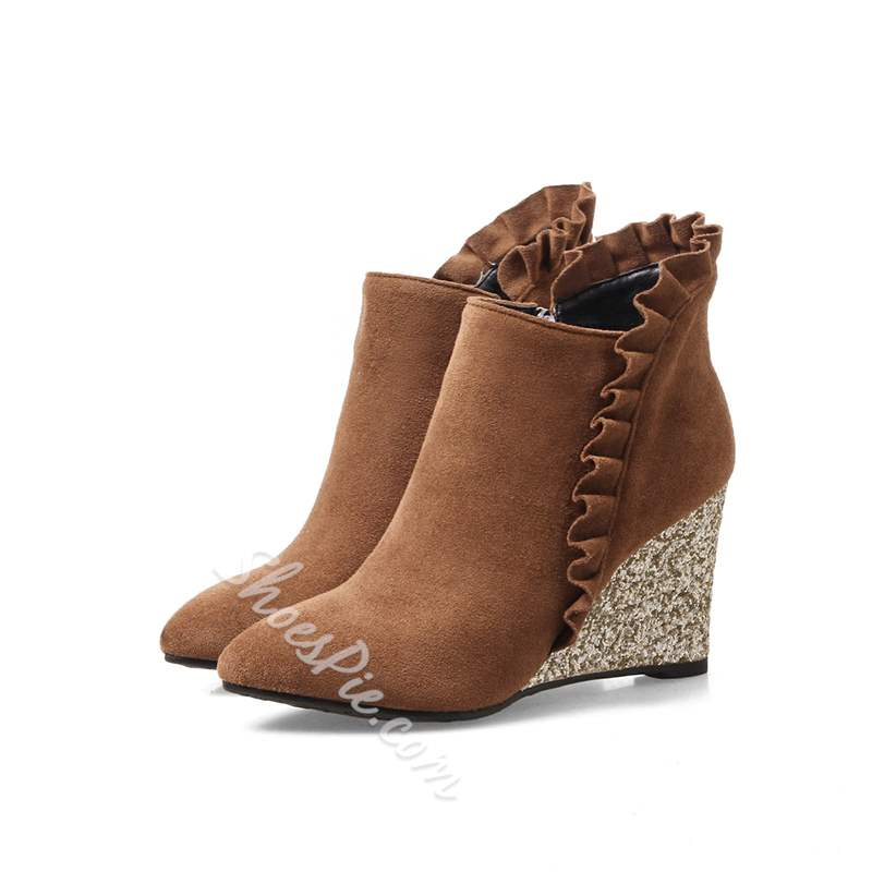 ShoespieFalbala Wedge Heel Ankle Boot Ankle Boot